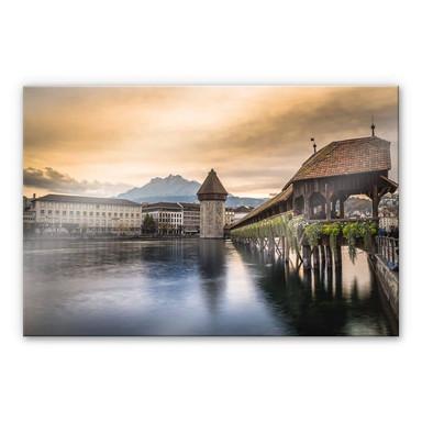 Acrylglasbild Huber - Old Town Lucerne