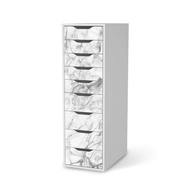 Folie IKEA Alex 9 Schubladen - Marmor weiss