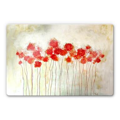 Glasbild Melz - Flowers
