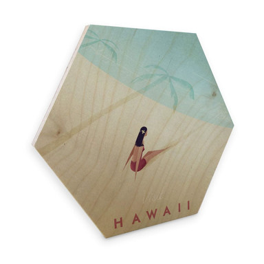 Hexagon - Holz Birke-Furnier Rivers - Hawaii