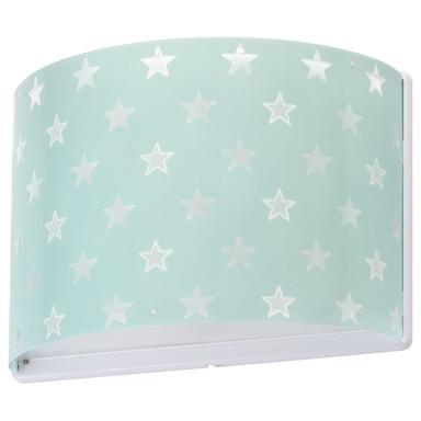Kinderzimmer Wandleuchte Stars in Grün fluoreszierend E27