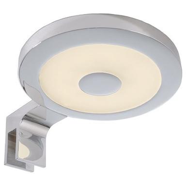 LED Spiegelleuchte Rund II in Silber und Chrom 4.5W 240lm 3000K IP44