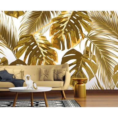 Livingwalls Fototapete Designwalls Palm Leaves Dschungel