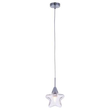 Pendelleuchte Star mit sternförmigem Schirm 140mm transparent