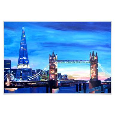 Poster Bleichner - London Tower Bridge und The Shard