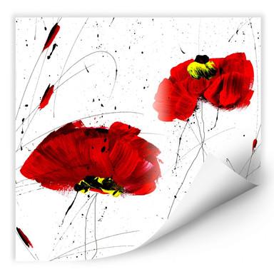 Wallprint Niksic - Roter Mohn