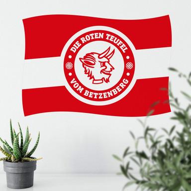 Wandsticker 1.FC Kaiserslautern Fahne