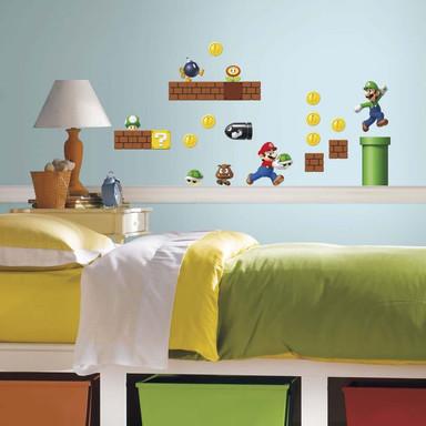 Wandsticker Super Mario - Mario Build a scene - 34-teilig - Bild 1
