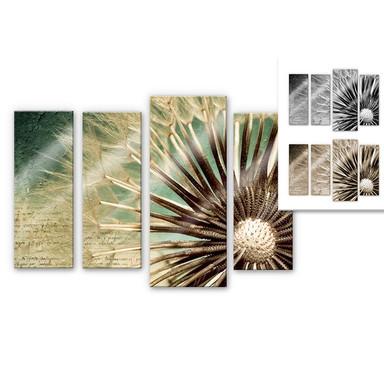 Acrylglasbild Pusteblumen-Poesie (4-teilig)