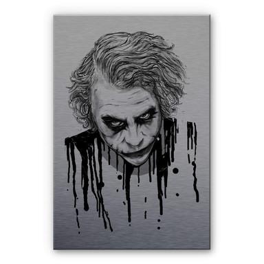 Alu-Dibond-Silbereffekt Nicebleed - The Joker