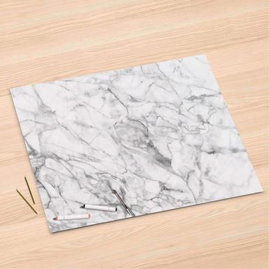 Folienbogen (120x80cm) - Marmor weiss