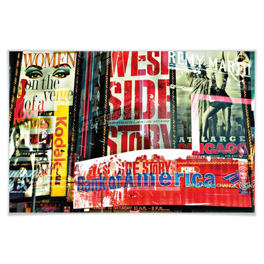 Giant Art® XXL-Poster Times Square Neon Stories - 175x115cm - Bild 1