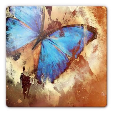 Glasbild Butterfly Ice
