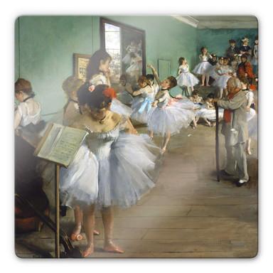 Glasbild Degas - Die Tanzklasse