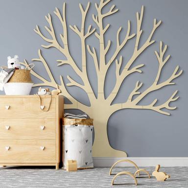 Holzdeko Pappel XXL-Baum des Lebens (19-teilig)