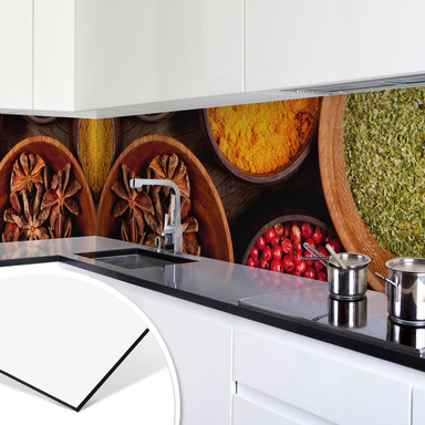 Küchenrückwand - Alu-Dibond - Gewürze