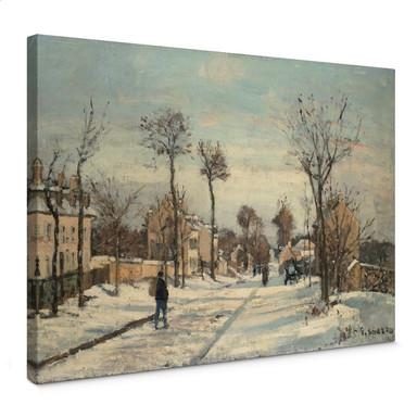 Leinwandbild Pissarro - Strasse von Louveciennes im Schnee