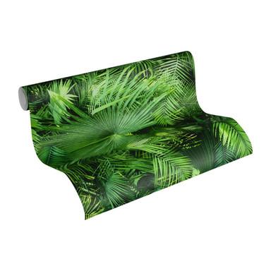 Livingwalls A.S. Création Neue Bude 2.0 im Palmenprint Dschungel Optik grün, schwarz