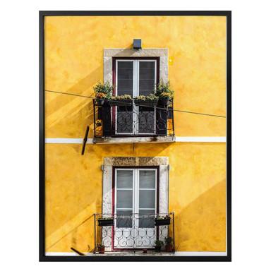 Poster - Die gelbe Hausfassade