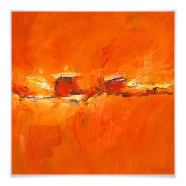 Poster Schüssler - Composition in Orange - quadratisch