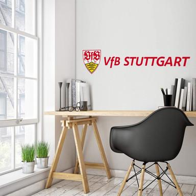 Wandsticker VfB Stuttgart Logo Schriftzug