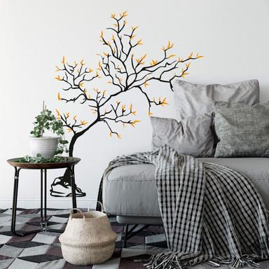 Wandtattoo Junger Baum (2-farbig)