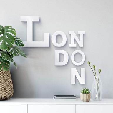 Dekobuchstaben 3D London mixed