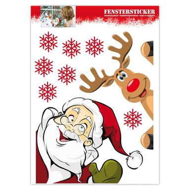 Fenstersticker Weihnachtsmann / Rentier - Bild 1