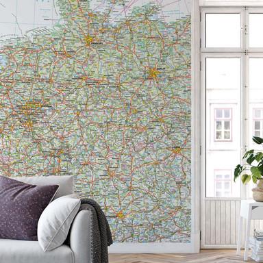 Fototapete Falk - Deutschland Landkarte
