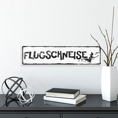 Hartschaum-Dekoschild Flugschneise