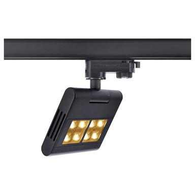 LED 3-Phasen Schienensystem Strahler Lenito Track in Schwarz 23W 2450lm
