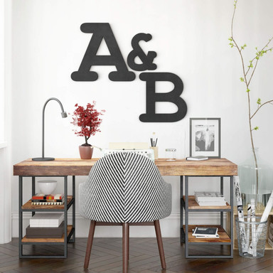 MDF-Holzbuchstaben - Einzelbuchstaben - Courier