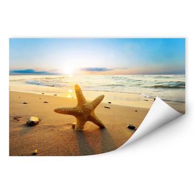 Wallprint Seestern im Sand