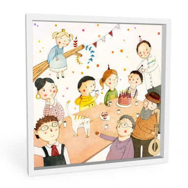 Wandbild Loske - Geburtstagsfeier