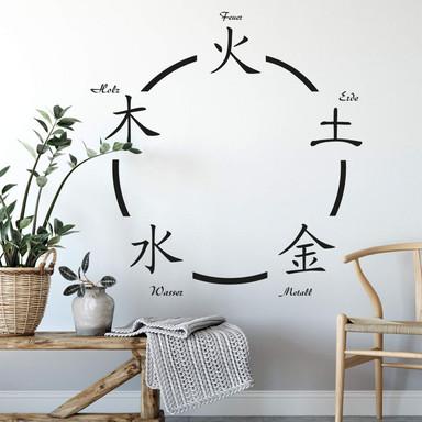 Wandtattoo Fünf Elemente