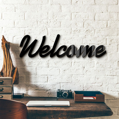 Acrylbuchstaben Welcome + 8 Klebepads