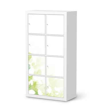 Folie IKEA Kallax Regal 8 Türen - Flower Light- Bild 1