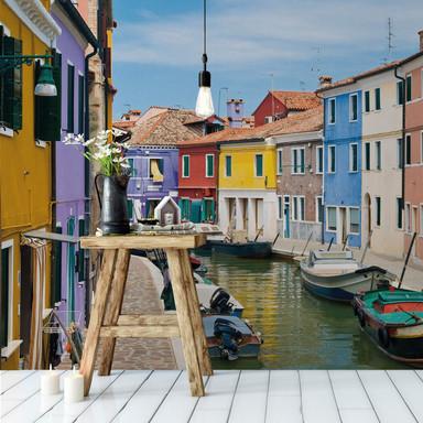 Fototapete Farbenfrohes Venedig - 384x260cm - Bild 1