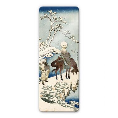 Glasbild Hokusai - Der chinesische Dichter Su Dongpo