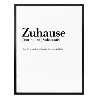 Poster Grammatik - Zuhause