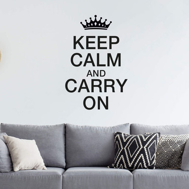 Wandtattoo Keep Calm and Carry On