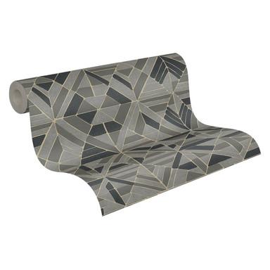 A.S. Création Vliestapete Pop Style geometrische Tapete Glitzereffekt, metallic, braun, schwarz