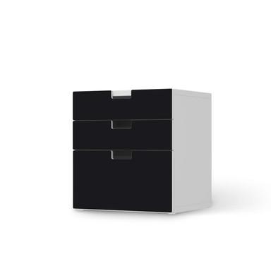 Folie IKEA Stuva / Malad Kommode - 3 Schubladen - Schwarz