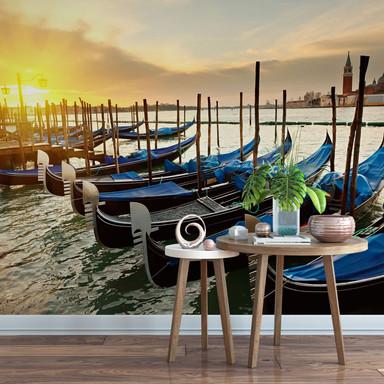 Fototapete Venezianische Gondeln - 336x260cm - Bild 1