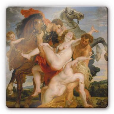 Glasbild Rubens - Raub der Töchter des Leukippos