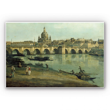 Hartschaumbild Canaletto - Dresden vom rechten Elbufer