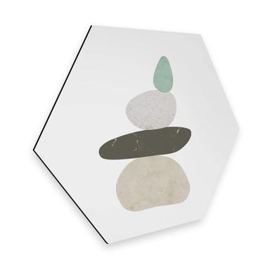 Hexagon - Alu-Dibond Nouveauprints - Pebbles 3
