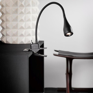 LED Klemmleuchte Mento schwarz 2.5W