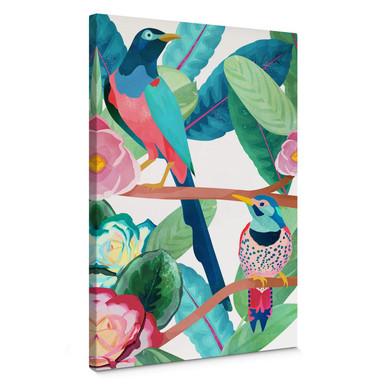 Leinwandbild Goed Blauw - Vögel im Frühling