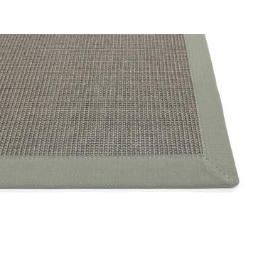 Manolo Sisal 5cm Bordürenteppich   Wunschmass   Rechteckig   Stone Gray   Eisen 46